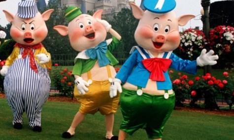 Die drei Schweinchen sind laut der Klägerin nicht so anständig wie sie scheinen.