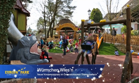 Der neue Kinderspielplatz - Würmchen Wiesn