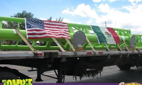 Die ersten Schienenteile sind in Mexiko angekommen.