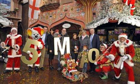 Der Europa-Park feiert seinen fünf Millionsten Besucher