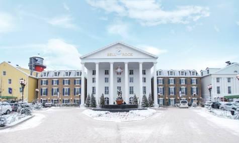 Auch die Hotels haben ihren eigenen winterlichen Flair