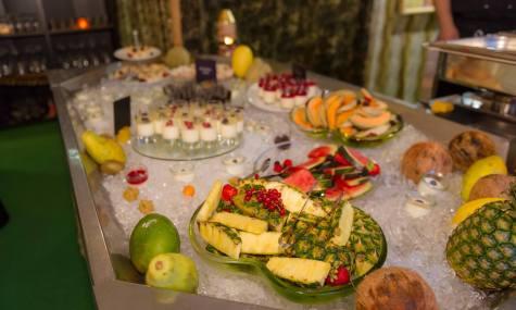 Das einladende Buffet im Colonial House
