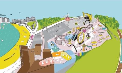 Der Park präsentiert sich in modernen Pastellfarben und einem verspielten Design - hier beispielhaft der neue Parkplan