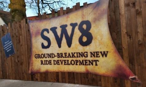 Das Plakat kündigt die SW8 an - Anklicken zum Vergrößern!