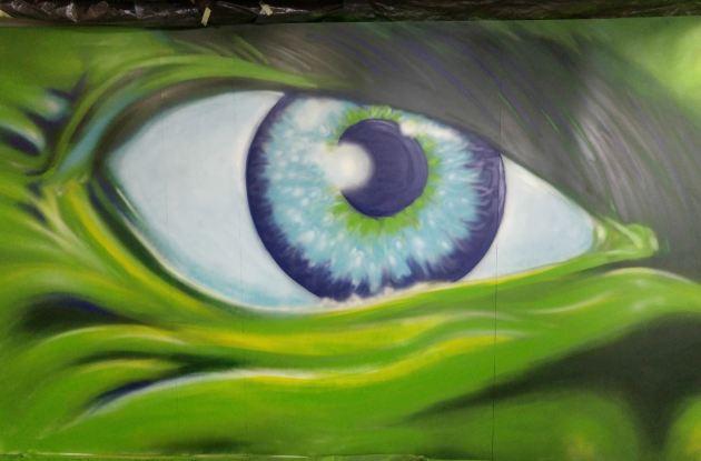 Hulk Graffiti Mural