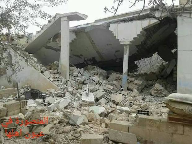 The aftermath of an alleged Coalition strike on a school in Al Mansoura, March 21st (via Mansoura in its People's Eyes)