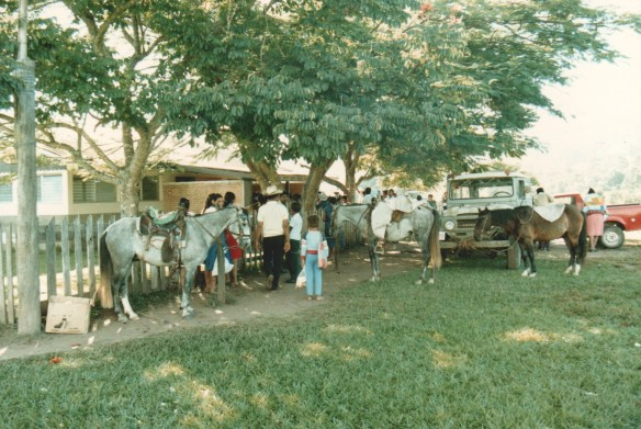 Honduran missionary hospital 1986. Many patients arrived by horseback