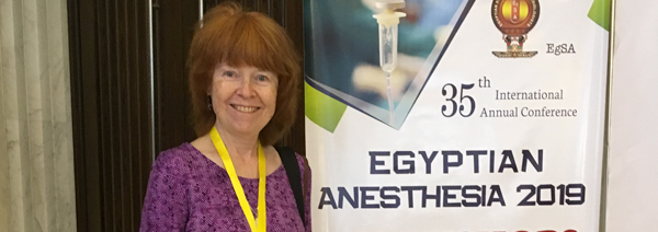 photo of Dr. Christine Whitten at the 35th International Annual Conference of Egyptian Anesthesia 2019
