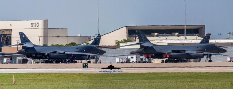 Photo B-1B flightline
