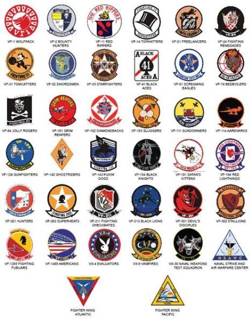 Tomcat-Squadron-Logos