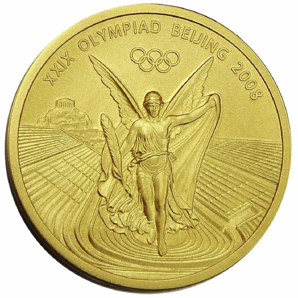 Goldstck Aus Silber Olympische Spiele Badische Zeitung