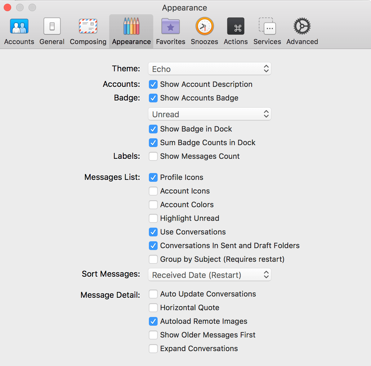 airmail 3 review settings
