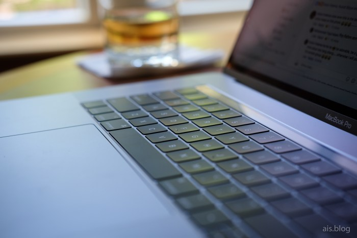 MacBook Pro keyboard-