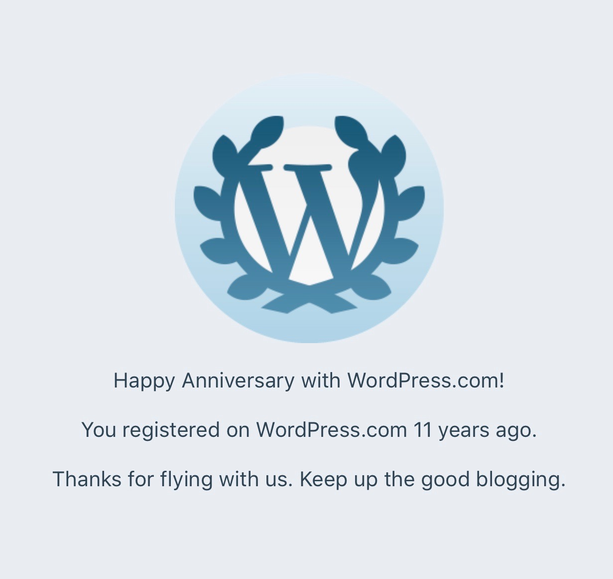 11 years of blogging