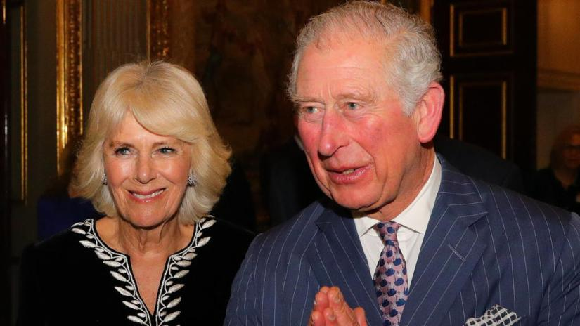 ARCHIVE - 03/03/2020, UK, London: British Prince Charles, Prince of Wales and his wife Camilla, Duchess of Cornwall, attend the Commonwealth Day reception at Marlborough House. (to dpa