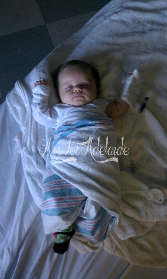 Addie in Hospital