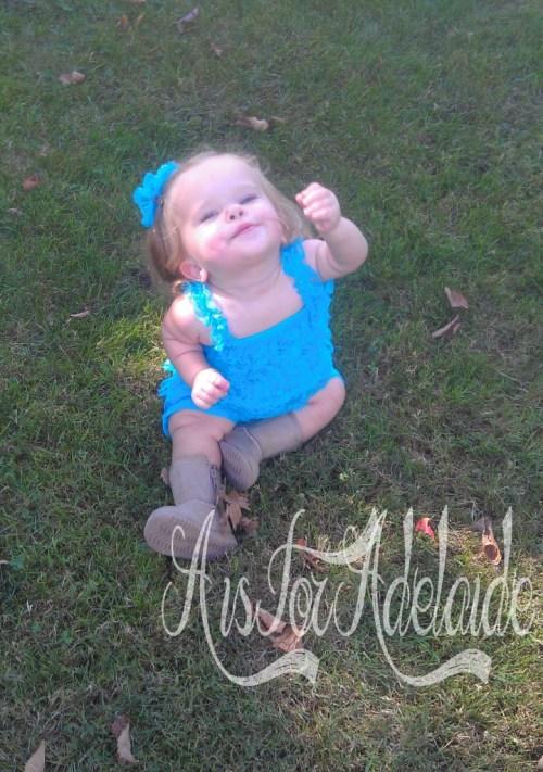 Addie in the grass