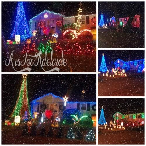 Best Light Shows in RI West Shore Road #Christmaslights #RhodeIsland #holidays #aisforadelaideblog