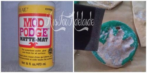 #modpodge to seal #saltdoughornaments #aisforadelaide
