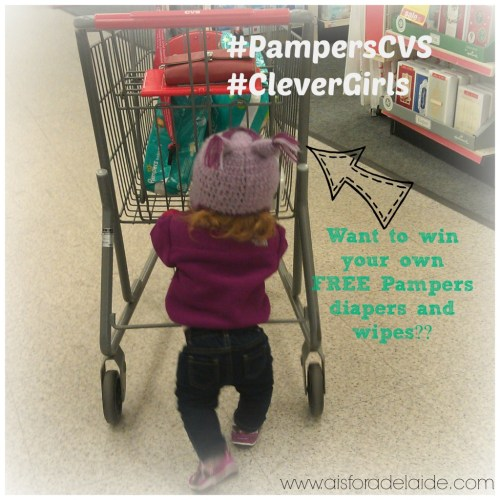 #shop #PampersCVS #CleverGirls Addie pushing the cart #aisforadelaide