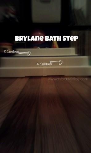 #aisforadelaide #brylane #bathstep #stepstoll #LP #dwarfism #achondroplasia