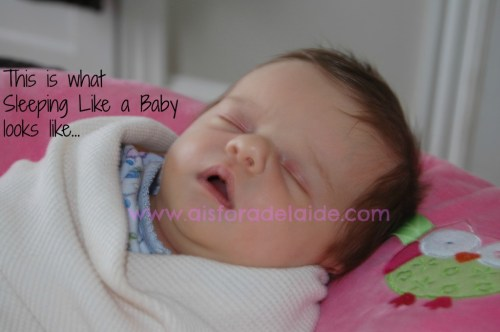 #aisforadelaide #sleepinglikeababy