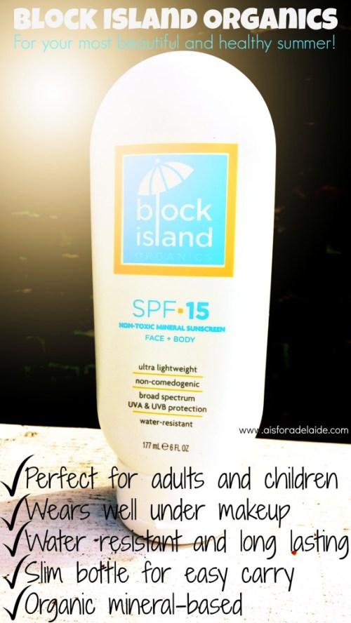 #aisforadelaide #blockislandorganics #sunscreen #skincare
