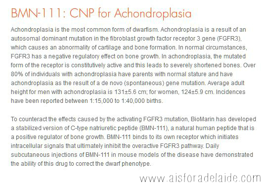 CNP BioMarin Study for achondroplasia #aisforadelaide