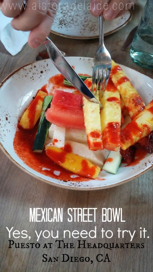 Where to eat in San Diego #puest #theheadquarters Mexican Street Bowl #aisforadelaide #travel #foodie