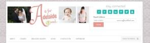 THE Header #aisforadelaide Neapolitan Designs #webdesign #graphicdesign #blog #blogdesign