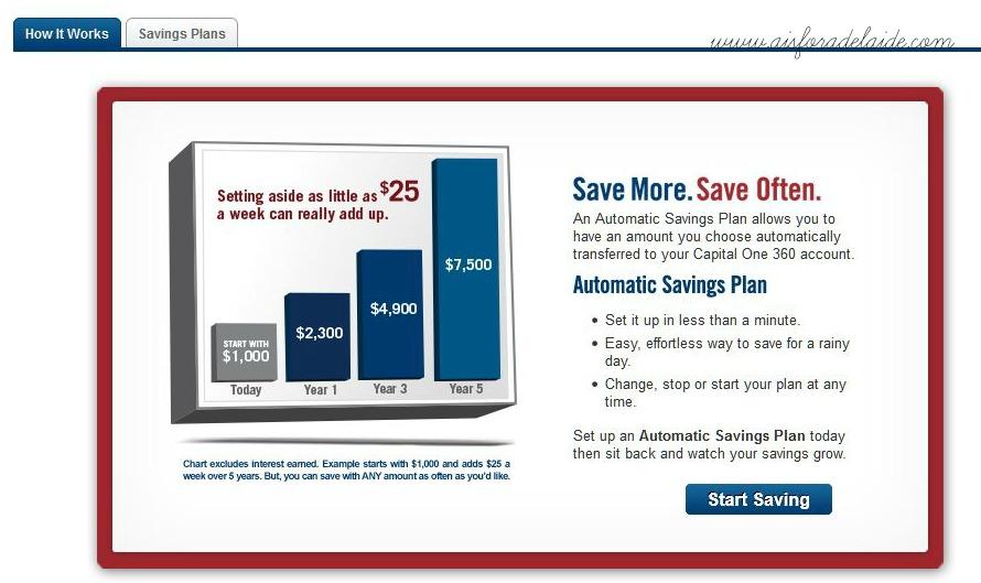 savings plan capital one 360 #aisforadelaide