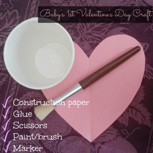 A footprint craft for baby's first Valentine's Day! #aisforadelaide #camillethea