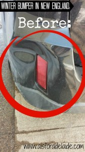 Easy bumper repair for all the damage winter has done! #LikeAGirl #Aisforadelaide