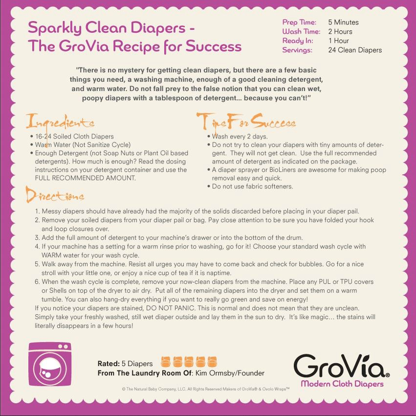 Converting your hook and loop cloth diapers from Grovia