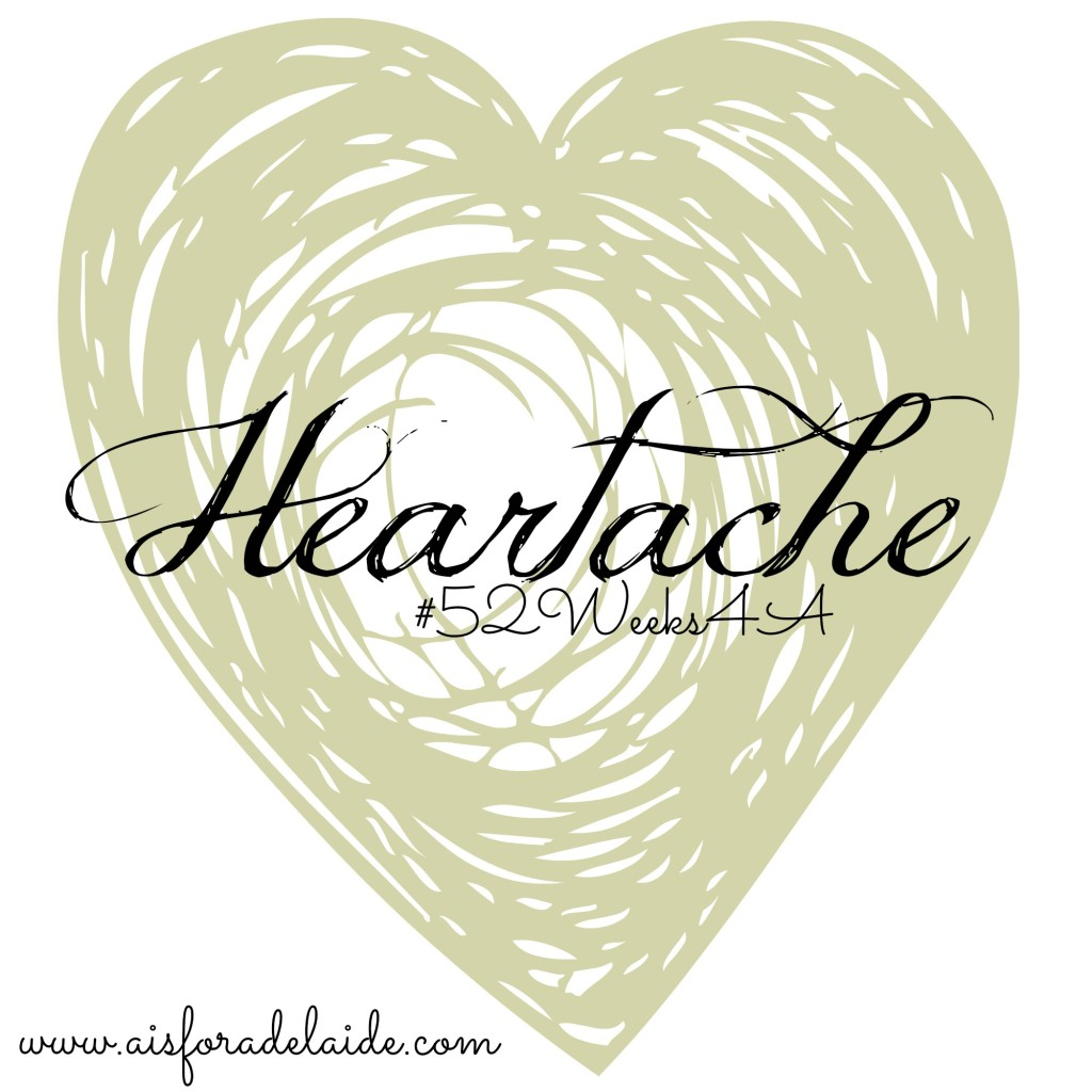 #52WeeksA4A Heartache, A Poem