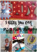 5 Gifts You Can Print Right From Home! #SaveYourMemories #ad #cbias