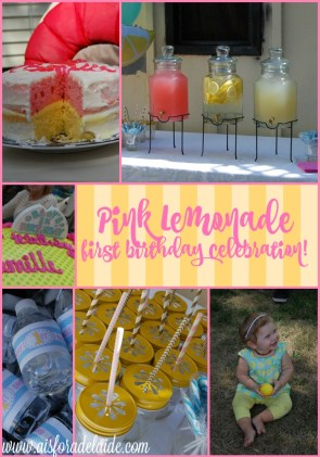 Pink Lemonade theme first birthday celebration