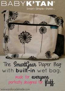 The Baby K'Tan SmartGear Diaper Bag! Perfect for Cloth Diapering!