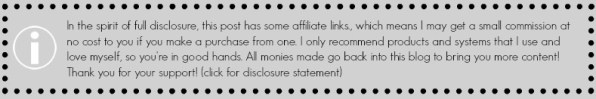 Disclosure for Affiliate links