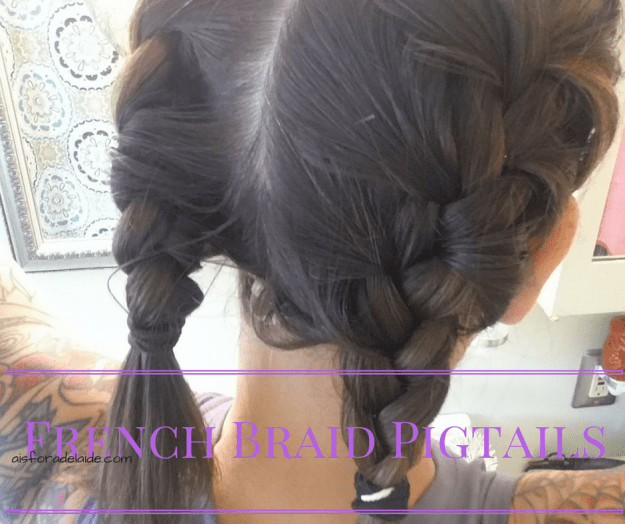 From work to workout: French Braid Pigtails