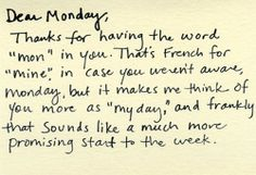 Motivation Monday: This is my day.
