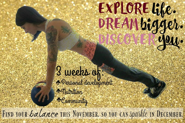 Balance + Sparkle Holiday Prep Group: Accountability, Nutrition, Personal Development, Community