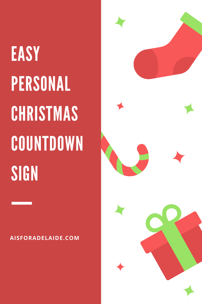 Custom Christmas Countdown Sign