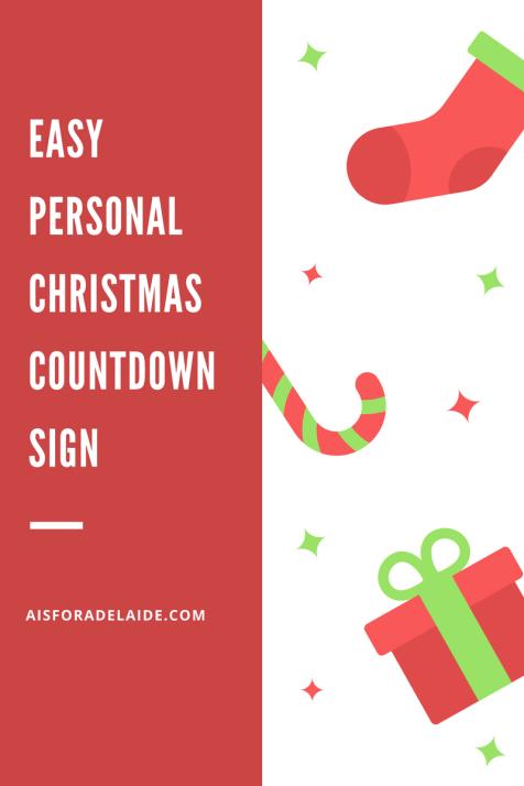 Handmade EASY Custom Countdown to Christmas Sign