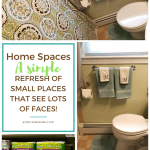 Summer Home Refresh: one bathroom, many people