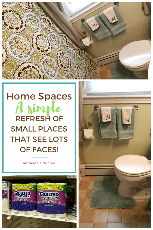 Small bathroom #MegaSummerRefresh: ready for guests! #cbias #ad