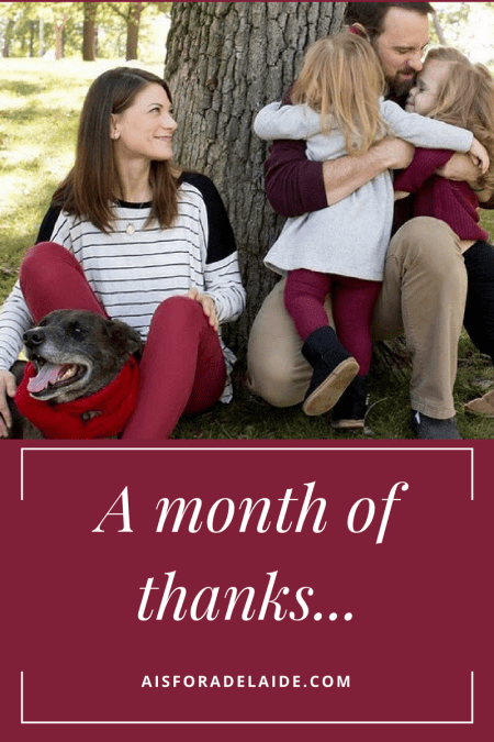 A Month of Thanks