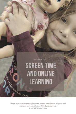 Find Your Balance: Screen Time and Online Learning