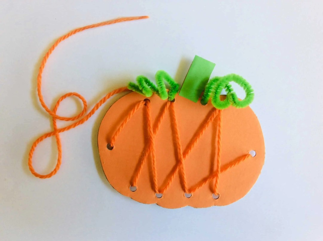 Easy pumpkin stitching decoration