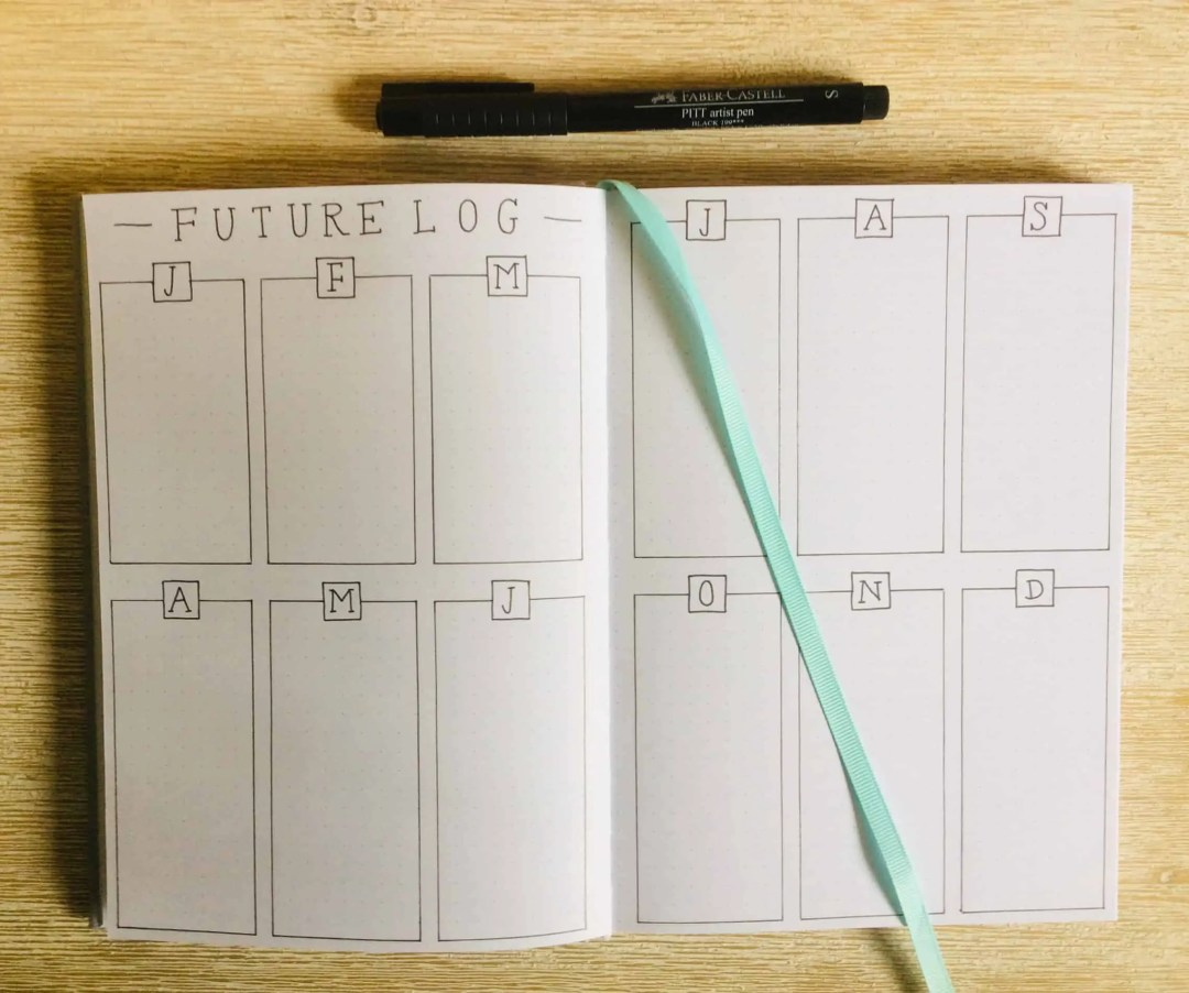 How to Start a Bullet Journal - Future Log